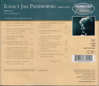 Ignacy Jan Paderewski    (Living Era AJC 8555)