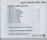 Ignaz Friedman, Vol. III     (St Laurent Studio YSL 78-117)