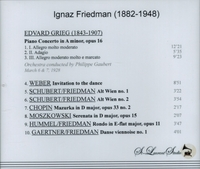 Ignaz Friedman, Vol. IV     (St Laurent Studio YSL 78-194)