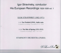 Igor Stravinsky, Vol. I    (St Laurent Studio YSL 78-054)