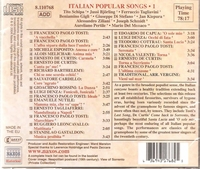 Italian Popular Songs, Vol. I      (Naxos 8.110768)