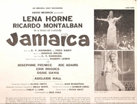 Jamaica  (Lena Horne)   (RCA LOC-1036)   Original Broadway cast LP