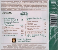 JoAnn Falletta   (Holst)    (Naxos 8.572914)