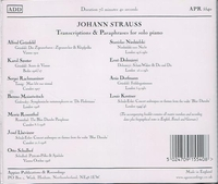 Johann Strauss - Piano Transcriptions      (Appian APR 5540)