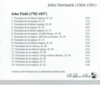 John Newmark, Vol. III  (John Field)     (St Laurent Studio YSL 33-437)