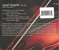 Josef Gingold          (Performer's Domain PD-1065)
