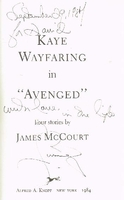 Kaye Wayfaring in 'Avenged'    (James McCourt)    039452361X