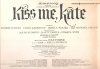 Kiss Me Kate   (Columbia CBS 645)   Original Television Soundtrack LP