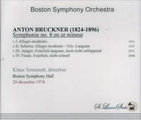 Klaus Tennstedt, Vol. I  -  Bruckner 8th -  Boston    (St Laurent Studio YSL T-332)