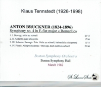 Klaus Tennstedt, Vol. VI - (Bruckner 4th - Boston)   (St Laurent Studio YSL T-695)