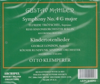 Klemperer; Elfriede Troetschel, George London   (Archipel 0292)
