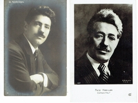 Fritz Kreisler  -  1 signed and inscribed sepia photo w. Reinhold Warlich