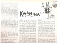 Kwamina  (Brock Peters)  (Capitol SW-1645)  Original Broadway cast LP