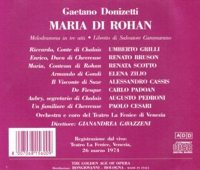 Maria di Rohan  (Gavazzeni;  Scotto, Bruson, Grilli)   (2-Golden Age of Opera GAO 156/57)