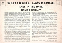 "Lady in the Dark  /  Nymph Errant     (Lawrence)    (10"" RCA LRT-7001)"