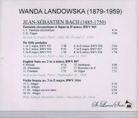 Wanda Landowska, Vol. IV;  Menuhin  (St Laurent Studio YSL 78-098)