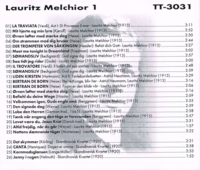 Lauritz Melchior  (as Baritone)         (Truesound Transfers 3031)