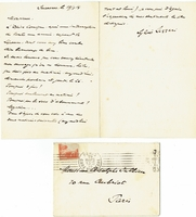 Lazzari, Sylvio. 3 Air Letters, one of which is to Mme. E. Colonne / one to Casadesus / 1 ALS w envelope dated March 19, 1914