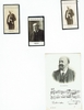 Lenepveu, Charles-Ferdinand. 1 unsigned sepia photocard with printed musical ornamentation, 3.5x5.5 / 2 unsigned sepia photo cards, Collection F�lix Potin. 1.75x3.  Mr. Lenepveu was notoriously known as the center to �l�affaire Ravel� in 1905�s Prix de Rome.