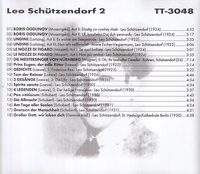 Leo Schutzendorf, Vol. II            (Truesound Transfers 3048)