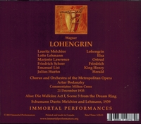 Lohengrin   (Bodanzky;   Melchior, Lehmann, Lawrence, Schorr, List)    (3-Immortal Performances IPCD 1032)