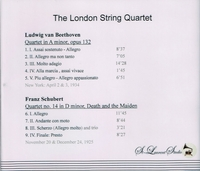 London String Quartet,  Vol. I   (St Laurent Studio YSL 78-022)
