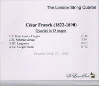 London String Quartet, Vol. II   (St Laurent Studio YSL 78-033)