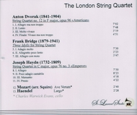 London String Quartet, Vol. IV    (St Laurent Studio YSL 78-138)
