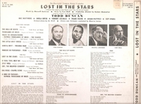 Lost in the Stars (Duncan)  (Decca DL 8028) Original Broadway cast LP