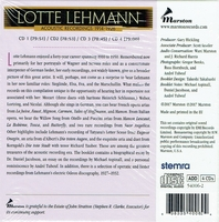 Lotte Lehmann, Vol. I:  The Complete Acoustic Recordings, 1914-26     (4-Marston 54006)