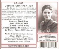 Louise   (Wolff;  Geori Boue, Kriff, Musy, Solange Michel, Renee Gilly)     (2-Malibran 737)