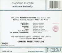 Madama Butterfly  (Mitropoulos;  Dorothy Kirsten, Daniele Barioni)  (2-Theorema 121167/68)