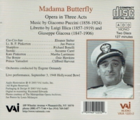 Madama Butterfly  (Ormandy;   Eleanor Steber, Jan Peerce, Richard Bonelli)  (2-VAI 1220)