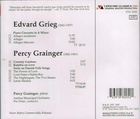 Percy Grainger;  Per Drier   (Vanguard OVC 8205)