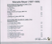 Marcelle Meyer, Vol. II     (St Laurent Studio YSL 78-063)