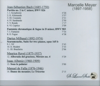 Marcelle Meyer, Vol. VII          (St Laurent Studio YSL 78-222)