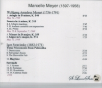 Marcelle Meyer, Vol. VIII          (St Laurent Studio YSL 78-346)