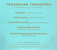 Margarethe Siems; Aranyi, Forstel, etc.  (2-Truesound Transfers 4001)
