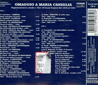 Maria Caniglia    -    Live Performances, 1936-53           (2-GOP 807)