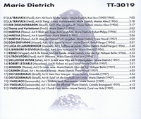 Marie Dietrich                    (Truesound Transfers 3019)