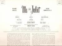 Me and Juliet          (RCA LOC-1012)         Original Broadway cast LP