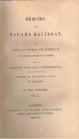 Memoirs of Madame Malibran     (COUNTESS DE MERLIN)