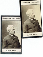 Metra, Olivier. 1 sepia photocard, Collection Félix Potin 1.75x3.