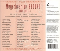 Meyerbeer on Record, Vol. I        (3-Marston 53009)