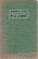 Miniature Essay   (Peter Warlock)    (Philip Heseltine)