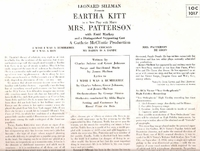 Mrs. Patterson (Eartha Kitt) (RCA LOC-1017) Original Broadway cast LP