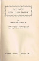 My Own Unaided Work    (Hermione Gingold)