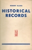 New Catalogue of Historical Records  (Roberto Bauer)   (Orig. 1937 Edition)