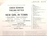 New Girl in Town  (Verdon) (RCA LSO-1027) Original Broadway cast LP