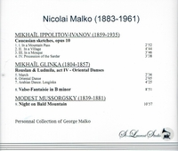 Nicolai Malko, Vol. XIV          (St Laurent Studio YSL 78-399)